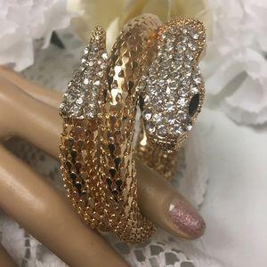 Jewelry - Gold Tone Coiled Snake Bangle Bracelet